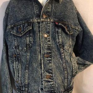 VTG Levis Acid Wash 80's denim jean trucker jacket